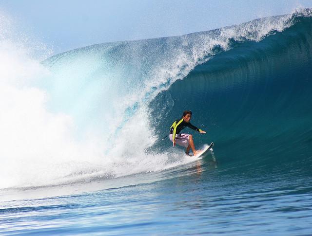 Wave rider at Teahupoo.