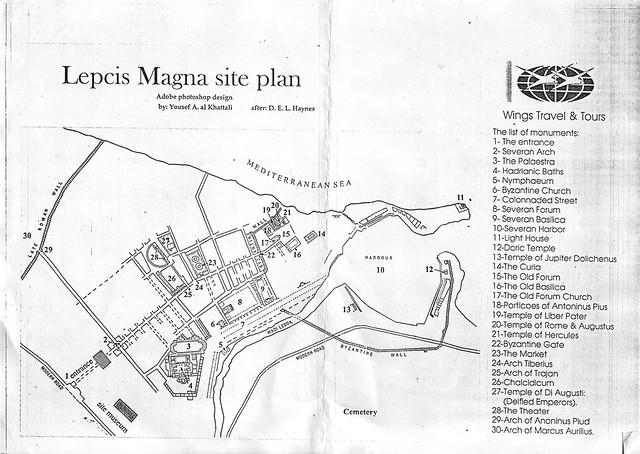 Leptis Magna site plan (Al Khums, Libya)