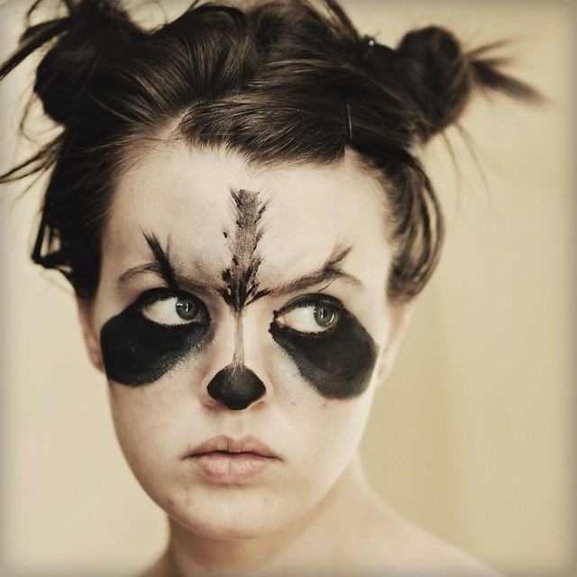 Raccoon eye makeup