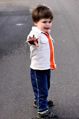 he stood in the middle of the street and flagged dow…