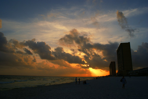 sunset red sky sun beach gulfofmexico water clouds buildings sand waves afternoon gulf florida towers shore panamacitybeachflorida alabadrock 1on1sunrisesunsetsphotooftheweek alalto 1on1sunrisesunsetsphotooftheweekapril2009