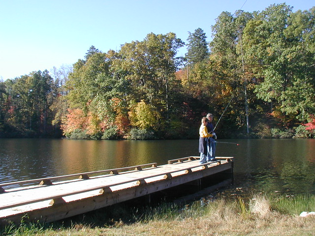 fishing at Holliday Lake