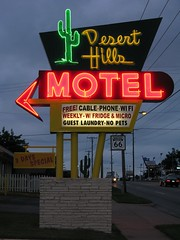 Desert Hills Neon Sign Route 66