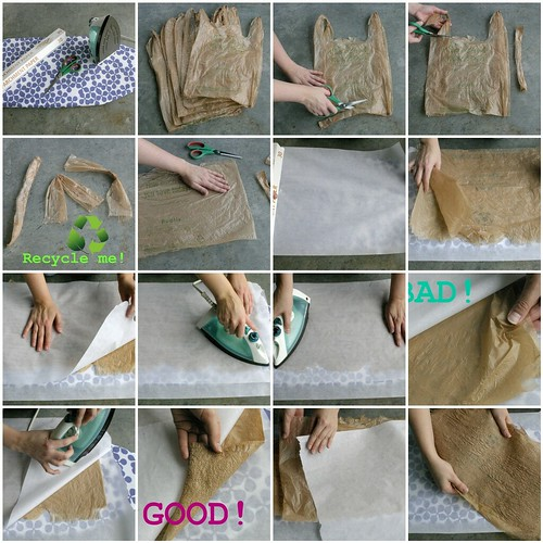 Plastic bag fusing tutorial by So She Sews
