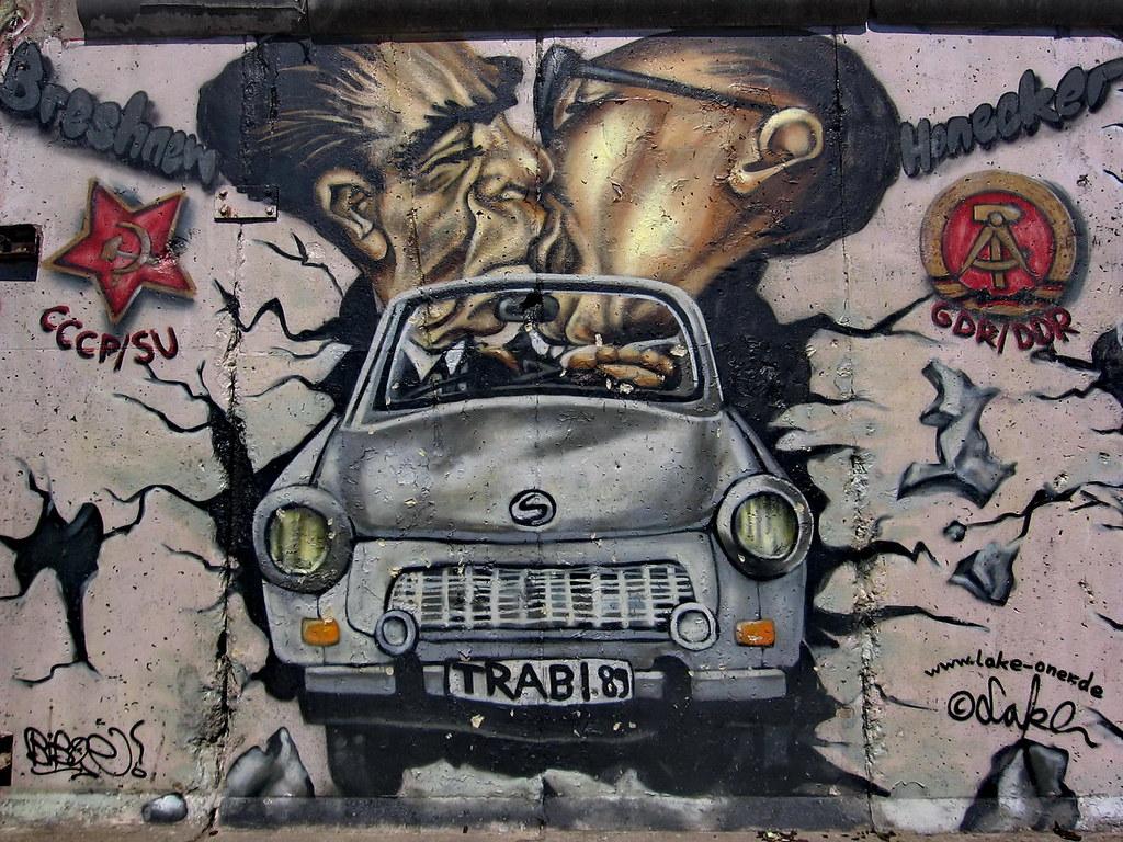 Berlin Wall Art Part - 20: Berlin Wall Art Trabant | Famous Brezhnev Honecker kiss. | Flickr