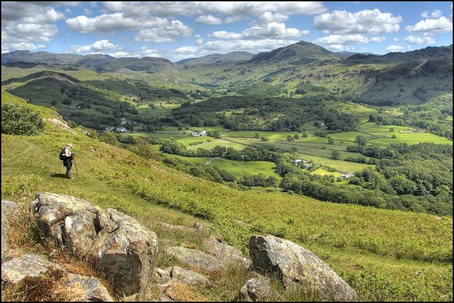 Looking out over Eskdale