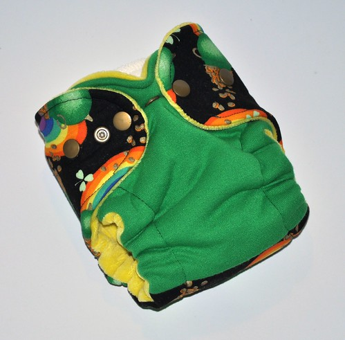 Newborn Hybrid Fitted  Pot o' Gold  Cotton Velour