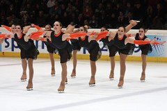 floor gymnastics(0.0), individual sports(0.0), sports(0.0), axel jump(0.0), gymnastics(0.0), skating(1.0), ice dancing(1.0), winter sport(1.0), ice skating(1.0), gymnast(1.0), synchronized skating(1.0), figure skating(1.0),