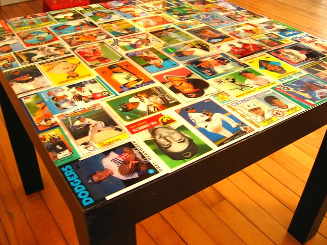 Baseball Card Coffee Table 2 Flickr Photo Sharing