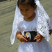 Little Guatemalan Girl in White - Semana Santa, Antigua