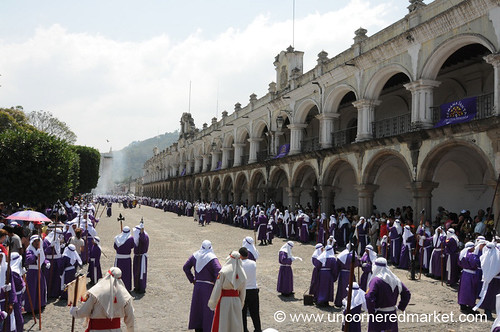 Parque Central on Good Friday, Semana Santa - Antigua, Guatemala