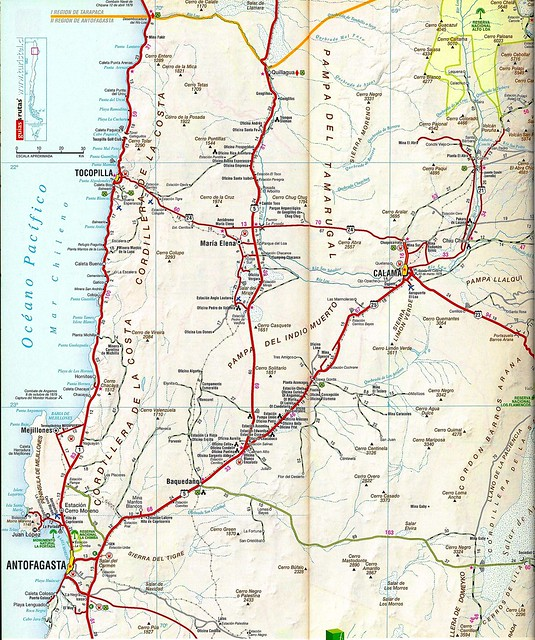 Mapa Vial De Chile Chile Road Map Flickr Photo Sharing