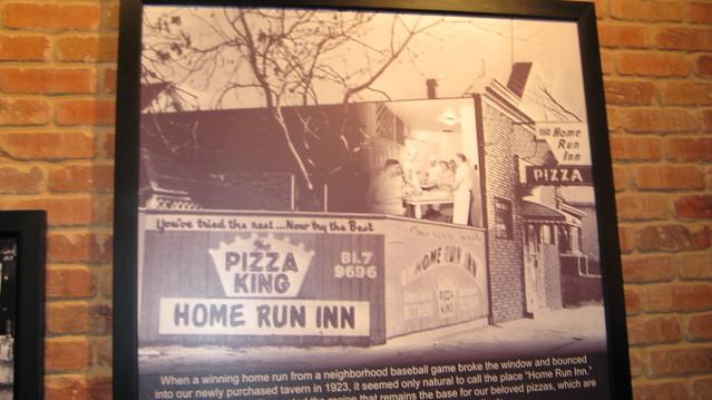 An old photo of the original home run inn pizza tavern and for Home run inn