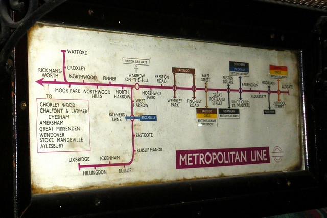 Old Metropolitan Line map