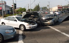 accident, automobile, traffic collision, vehicle, sedan, luxury vehicle, sports car,