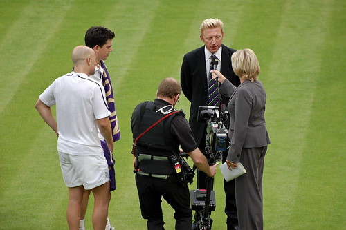 Boris Becker with Sue Barker