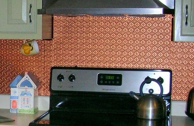 copper faux tin backsplash roll talissa decor flickr photo