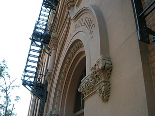 Image de Gooderham Building près de Toronto. old city red toronto ontario building brick architecture view flatiron gooderham doto doorsopentoronto2009