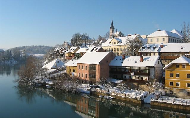 The Breg on the Krka River - Novo Mesto, Slovenia