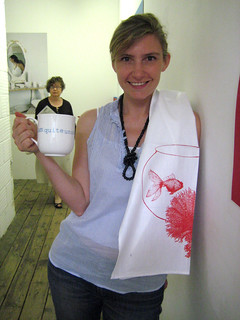 Mug b y Sarah Miller and Teatowel by Thornback and Peel