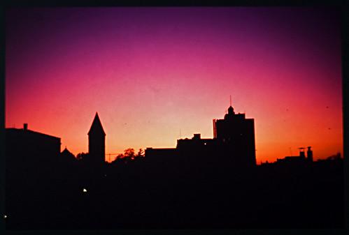 sunset rooftop horizon slide kodachrome albanyny