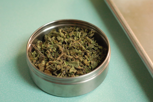 oregano in canister