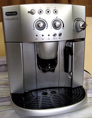 espresso(0.0), cappuccino(0.0), coffee(0.0), drink(0.0), drip coffee maker(1.0), coffeemaker(1.0), espresso machine(1.0), small appliance(1.0),