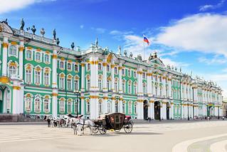 El Palacio de Invierno, en San Petersburgo.