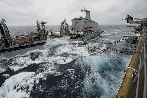 Bonhomme Richard conducts replenishment at sea