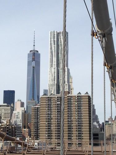 One WTC desde Brooklyn Bridge, NYC. Nueva York