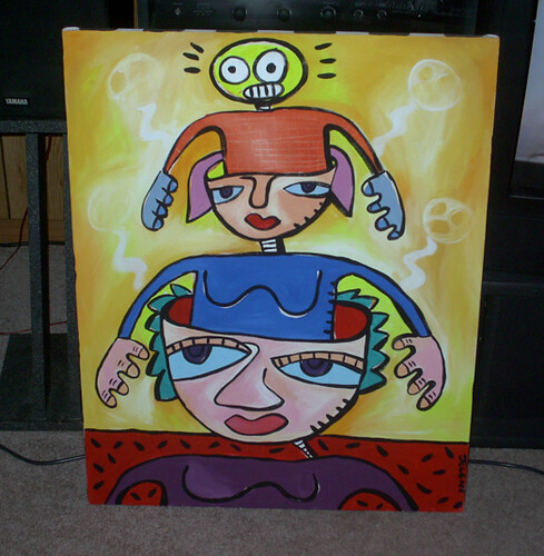 "Old painting from around 2001 - ""Voices in my head"""