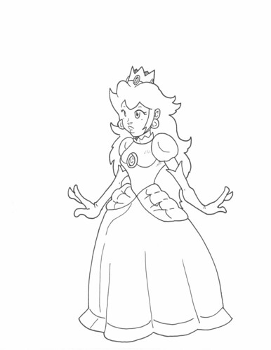 coloring pages princess peach - community blog by grumpyturtle work doodles 3 4 9 with