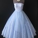 Strapless 50's lace & tulle prom dress