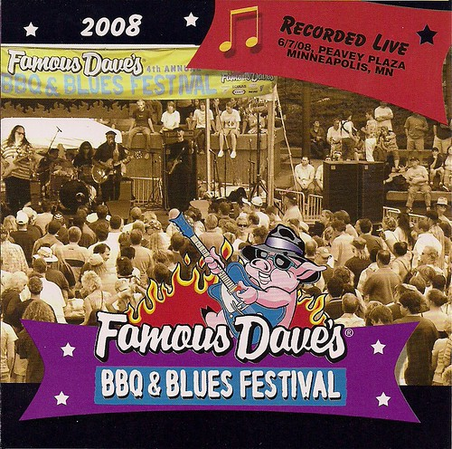 Famous Daves BBQ Blues Fest CD 2008 (Front Cover)