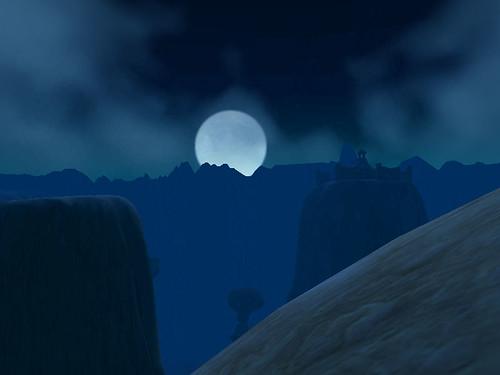 Moon Rises over Thousand Needles