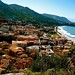 Small photo of Cefalu from atop La Rocca