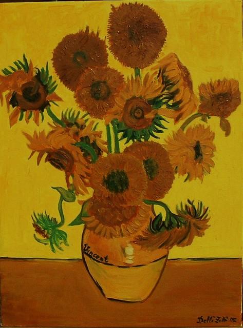Matrimonio Girasoli Van Gogh : Van gogh vaso girasoli replica ngl flickr