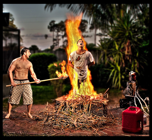 lighting photoshop fire michael scary manipulations horror shawn strobe burnedatthestake strobist burnedalive 204studios michaelherb mherb204 204studiosphotography