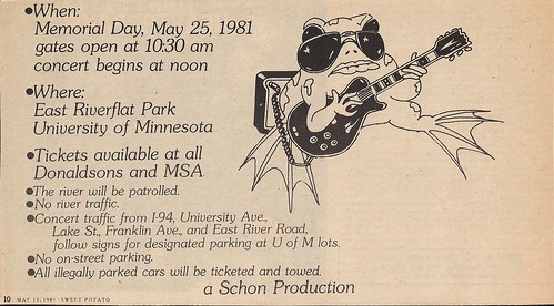 05/25/81 Rockin The RiverFlats Jam @ St. Paul, MN(Ad - Bottom Half)