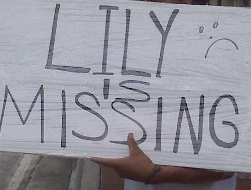 LILY ARAMBURO IS MISSING