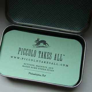 Business Cards in Tin