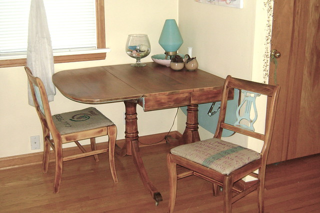Upcycled dining room set flickr photo sharing for Upcycled dining table