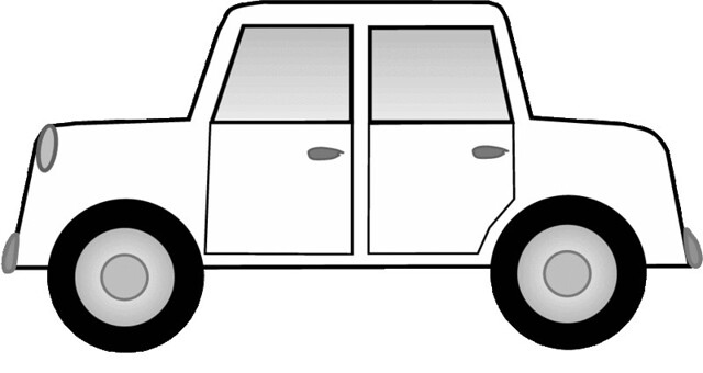 white car sketch clipart, 15 cm long | Flickr - Photo Sharing!