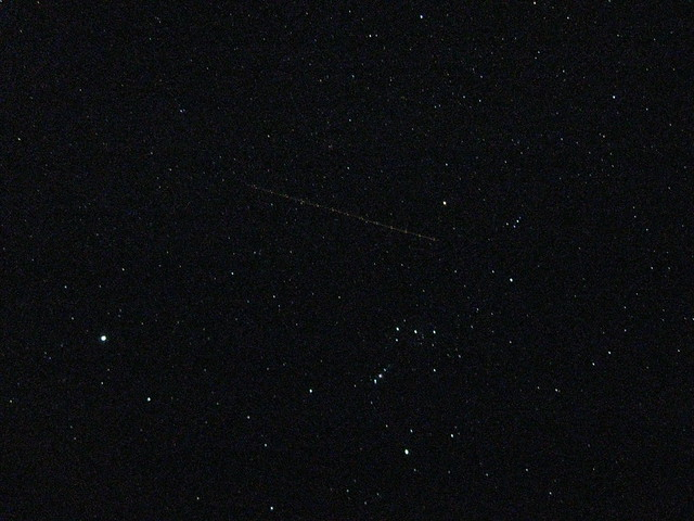 Orion, Sirius, and Airplane