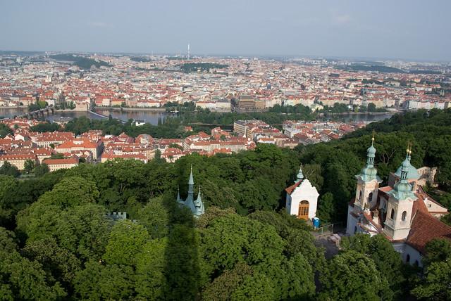 View from Petřínská rozhledna (Petrin Tower), Prague