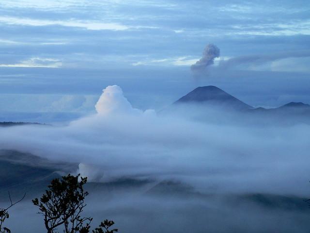 Bromo: erupting Semeru