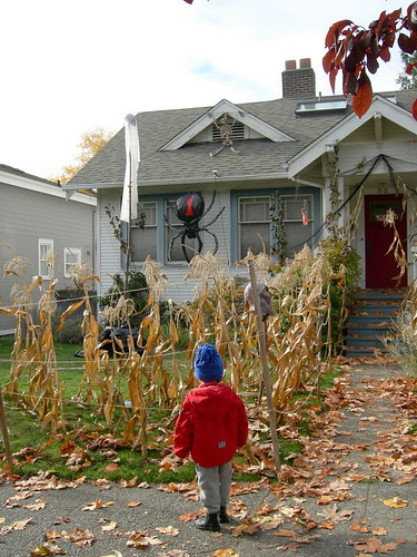 Halloween house and yard by greenwalksblog