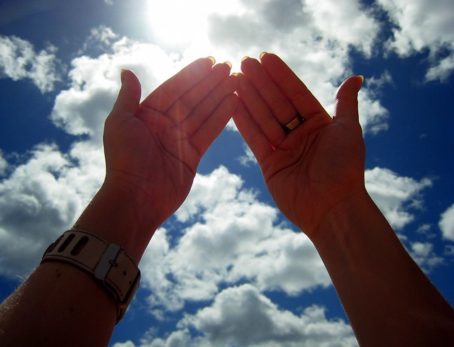 Hand sky