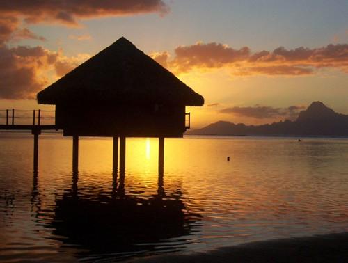 sunset tahiti frenchpolynesia polynésie