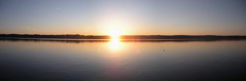 morning panorama sun lake ny newyork water sunrise river landscape hudson hudsonvalley esopus portewen